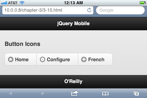 the preview area will present three complete, identical and interactive jquery mobile pages packed with widgets of