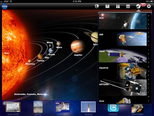 NASA iPad app