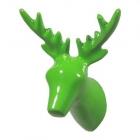 Wandhaken Hirschkopf grün