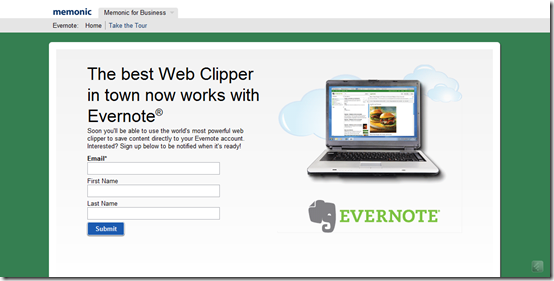 Memonic Clipper Integrates with Evernote | 40Tech