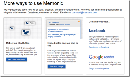 More ways to Use Memonic | Save Facebook, Google Reader Posts | 40Tech