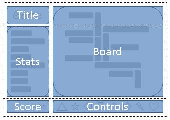 Image: An arrangment suitable for 'landscape' orientation.