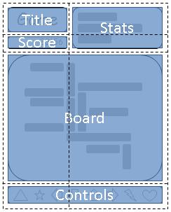 Image: An arrangement suitable for 'portrait' orientation.
