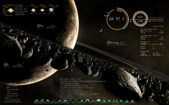 Windows 7 Rainmeter Themes 5