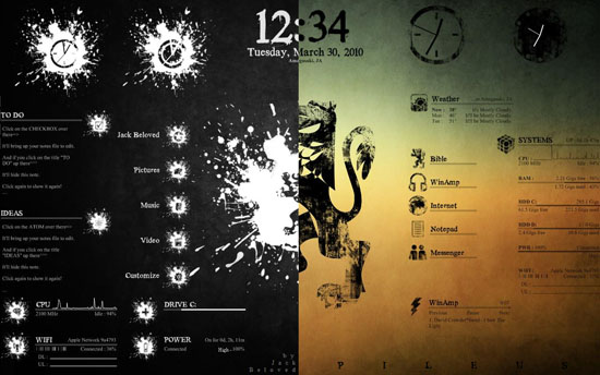 Windows 7 Rainmeter Themes 7