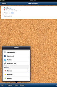 Memonic for iPad, note taking app