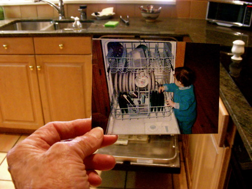 Dear Photograph, At age one and a half, I thought Grandma's dishwasher was the best toy ever. Seventeen years later, I'm not so sure. Chirpie
