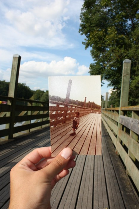 Dear Photograph, I learned to walk on that bridgeand now my son begins his journey. Ioic