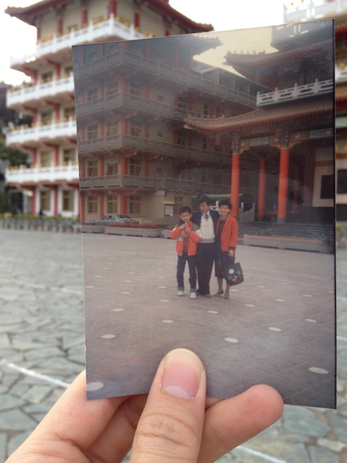 Dear Photograph, TheChinese New Year bringsmy familyback to the temple tosay hello to our grandparents. 24 years later, the temple still stands strong and unchanged, butI have expandedmy horizon way beyond the view. See you next year Grandma and Grandpa. Derrick