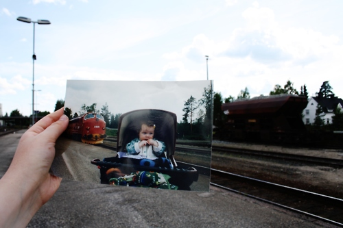 Dear Photograph, My Dad loved trainsandI will always be his little caboose. Love, Anna