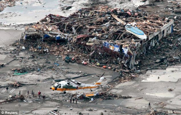 Missing: Half of the population of the port of Minamisanriku are still unaccounted for after the tsunami hit yesterday