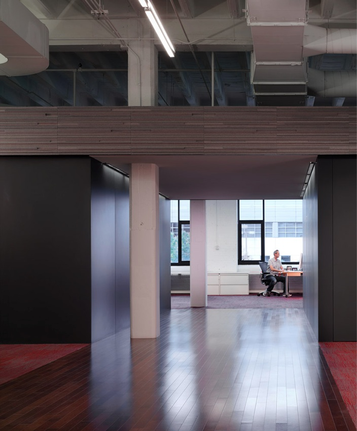 Photo of a hallway at 37signals with a lot of open space