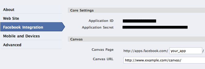 Canvas configuration